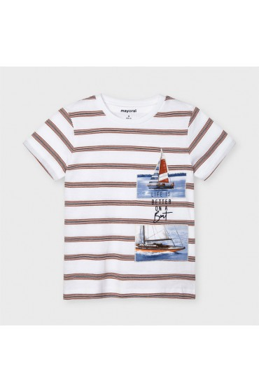 Mayoral Clay Striped T Shirt