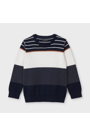 Mayoral Navy Colour Block Lightweight Jumper