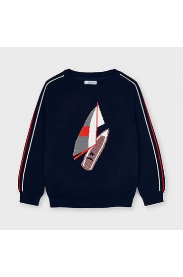 Mayoral Lightweight Navy and Red Windsurfer Jumper