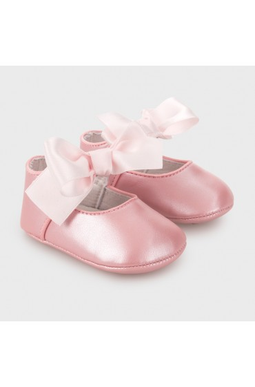 Mayoral Pink Bow Formal Mary Jane Pram Shoes