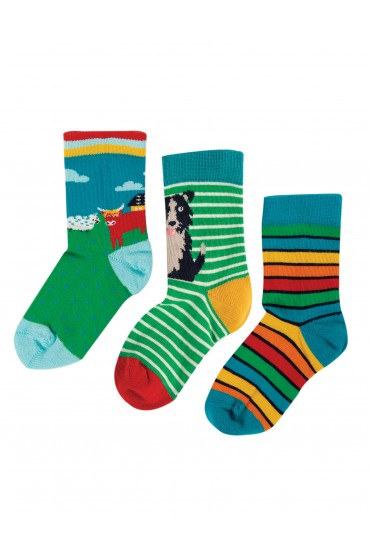 Frugi Highland Cow Multi Pack	Rock My Socks 3 Pack
