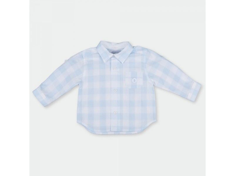 ccfe7fe6b509 Tutto Piccolo Light Blue Checked Shirt